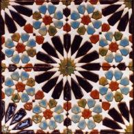 Set of 8 earthenware tiles, Richard Henry (2001)
