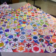 Made by 300 student during a week long teaching session at MOAT Community College