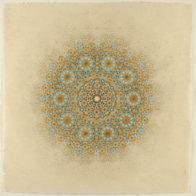Digital print and pencil on handmade paper, Sama Mara