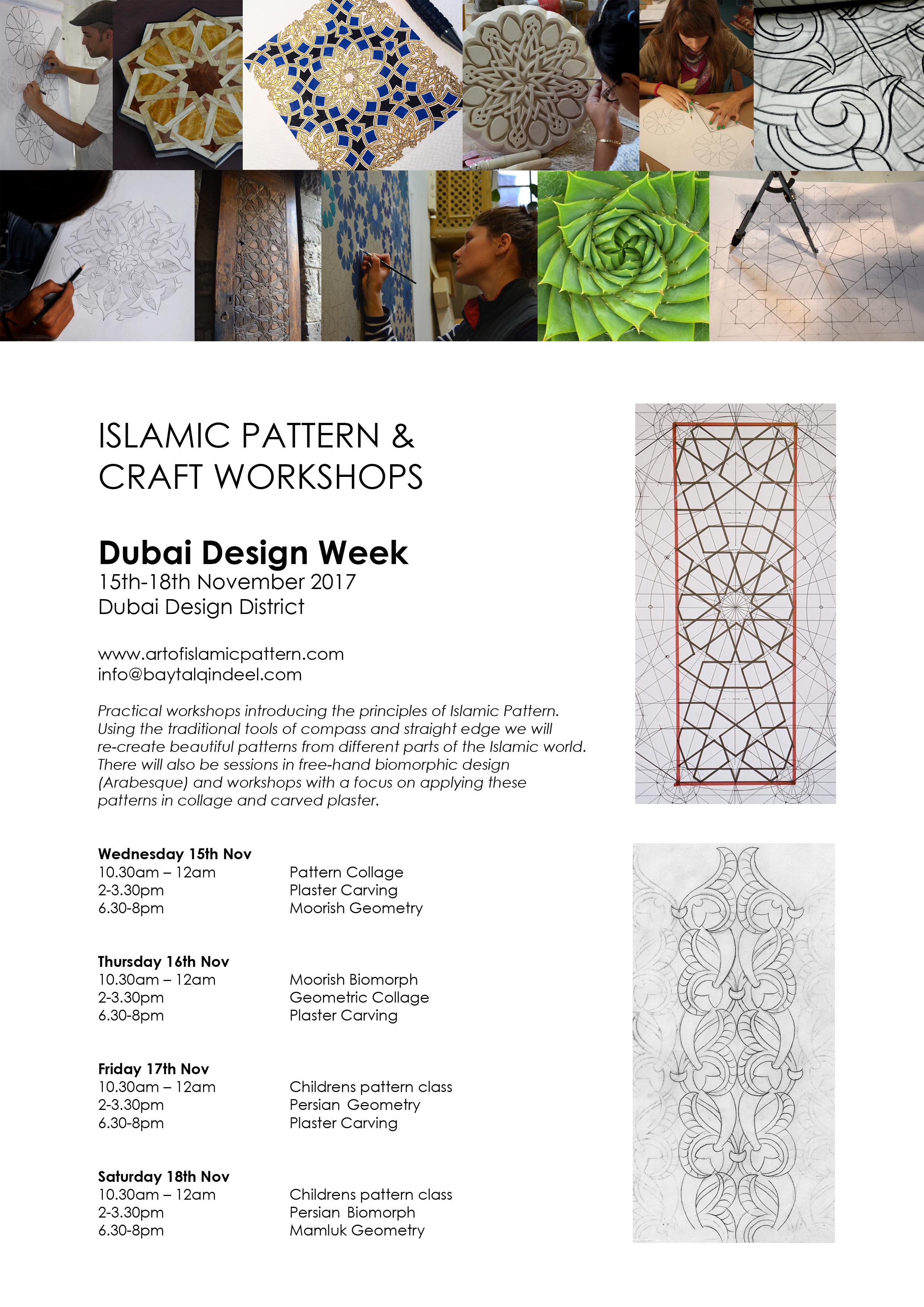 D3 Flyer Islamic Pattern & craft Workshop 2