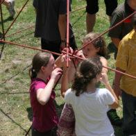 Children secure modules together.