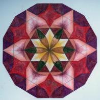 A pupil's colour work exploring 12-fold symmetry.