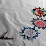 Pattern and collage progect led by Richard Henry. Individual design placed on larger template.