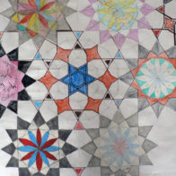 Pattern and collage progect led by Richard Henry. Collage detail.
