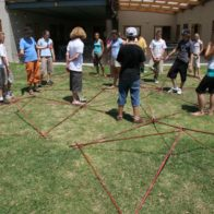 Individual modules placed together to create giant net. (Nov 2005)