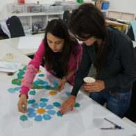 PSTA familiy drop in workshop led by Richard Henry, exploring pattern and symmetry
