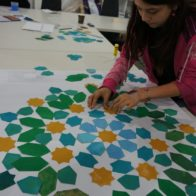 Familiy drop in workshop led by Richard Henry, exploring pattern and symmetry.