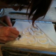 Alex Carr, a student on Moorish Patterns course