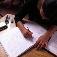 Student on the introduction course