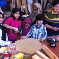 Home School Group make a table