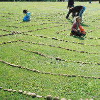 Labyrinth building project for local schools in conjunction with the 198 Gallery.