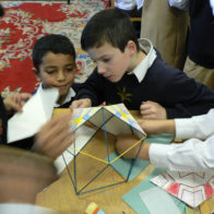 Geometry of structure, architecture and decoration project.