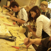 Stone workshop at Sir William Ramsey School