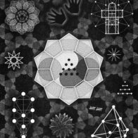 Graphic collage of hand-drawn and computer generated elements, Richard Henry (2005)