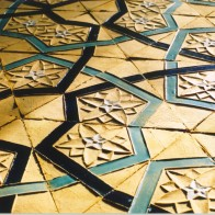 Triangular earthenware tiles, Richard Henry