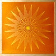 By Sama Mara. Gold on fused glass