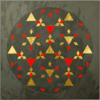 By Sama Mara. Gold and Oil Paint on Slate